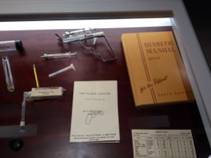 The Palmer Injector on display at the device museum at Medtronic Diabetes. Doubled as a torture instrument.